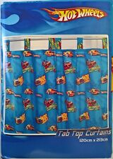 ~ Hot Wheels - CAR BED ROOM READY TO HANG CURTAINS WINDOW BLINDS Fast