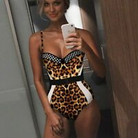 Retro Floral Swimsuit Women One Piece Deep Plunge V Neck Plus Size Ruffled Solid