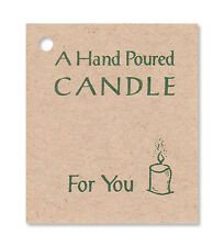 50 * A HAND POURED CANDLE * HANG TAGS, PRICE, Tie on, Crafts, Gifts. Made in USA