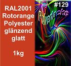verniciatura a Polvere 1Kg VERNICIATURA POLVERE RAL2001 Arancione rosso-arancio