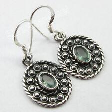 """Wholesale Jewelry Pure Sterling Silver 925 Earrings 1.3"""", Fiery APATITE Gemset"""