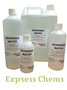 Deionised /Demineralised Water Lab Highest Grade Purity Level <1.3 Micro Siemens