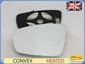 Wing Mirror Glass For VW POLO  2009 - 2016  Convex Heated Left Side /1051