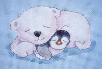 KL77 Snuggles - Pitt and Patt Counted Cross Stitch Kit by Genny Haines