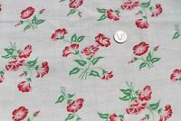 "Genuine Vintage Floral Cotton Feedsack Fabric c1940~L-17"" X W-37"""