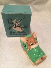 "Pendelfin Rabbit Stonecraft ""Wakey� Hand Painted Made in England Original Box"