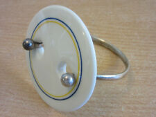RARE Vintage Anton Michelsen Royal Copenhagen Porcelain Disc / Sterling bracelet