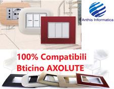 PLACCHE COMPATIBILI BTICINO AXOLUTE 3 4 6 MODULI POSTI