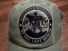 U.S MILITARY ARMY MARINE CORPS WOUNDED WARRIOR HAT CAP OD GREEN STONE WASHED