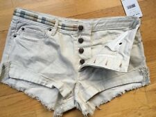 Free People Eliot Embroidered Shorts 26~Ivory Soda