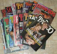lot of 17 tattoo magazines skin art