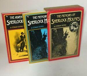 Facsimile of Original Adventures/ Memoirs of Sherlock Holmes Box Set A &W 1975