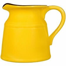 "Home Essentials & Beyond Ceramic Turino 5""H Small Pitcher, Canary Yellow"