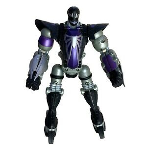 Marvel Venom Spider Smasher Transformer Action Figure 2006 Toybiz Spiderman