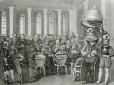 """MARTIN LUTHER - """"Reichstag zu Worms"""" - Lithographie um 1830"""