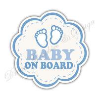 Baby on Board Child Full Color Adhesive Vinyl Sticker Window Car Bumper #064