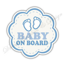 Baby on Board Child Full Color Adhesive Vinyl Sticker Window Car Bumper #064