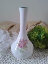 Staffordshire bud vase with pink flowers, Kirsty Jane, English floral bud vase
