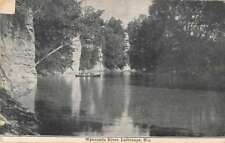 LaGrange Missouri Wyaconda River Waterfront Antique Postcard K78157