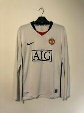 Manchester United Away Football Shirt 2009/10 Medium M Long Sleeve