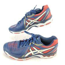 ASICS Gel-Netburner Ballistic Womens Size 10 Navy Red Volleyball Shoes 26 cm EUC