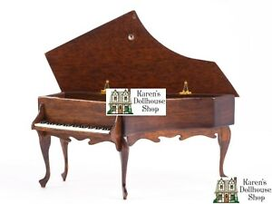 Dollhouse Miniatures ~ IGMA Ralph E. Partelow Hand Carved Wooden Harpsichord