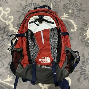 The North Face Mens Everest 8850m Backpack Red Color Block Seven Summits VTG OS