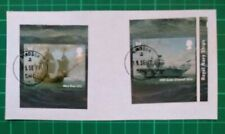 2019 Royal Navy Ships Self Adhesive Set Mary Rose & HMS Queen Elizabeth USED