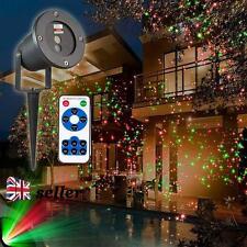 UK Outdoor Christmas Light Sky Star Laser Spotlight Led Lamp Shower Garden Xmas