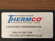 Thermco Certified Thermometer Astm 64f 86 Precision 77 131f Nitrogen Filled