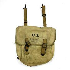 WWII US ARMY M1936 M36 FIELD MUSETTE BAG BACK PACK BACKPACK BRENEMAN 1943