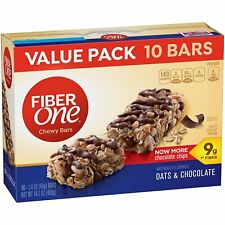 Fiber One, Oats & Chocolate Chewy Bars, Value Pack, (10 - 1.4oz Bars)