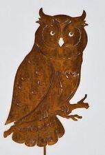 Owl Garden Stake, Rusty Bird Art, Metal Garden Art, Garden Ornament, Owl Statue
