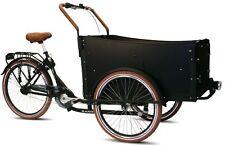 Bakfiets Troy Cargo famille vélo vitesse 7 Shimano Nexus 4 sièges bakfeetz Noir Nouveau