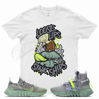 White LOOSE T Shirt for Nike Space Hippie 01 03 Healing Jade This is Trash Volt