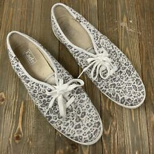 Keds 11 Women's Sneakers Shoes Lace Up Leopard Cheetah Print Boho Casual Summer