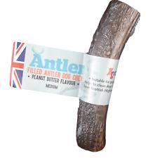 Antler Peanut Butter Filled 100% Natural Antos Deer Bar Horn Dog Chew Treat