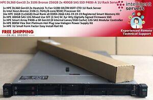 HPE DL360 Gen10 2x 3106 256GB 2x 400GB SAS SSD P408i 2x 800W PSU 1U Rack Server