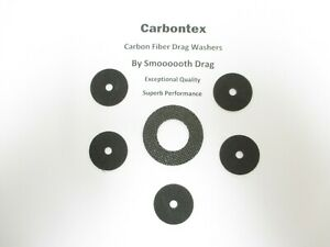 QUANTUM REEL PART Cabo BT 80 CSP80PTS - (6) Smooth Carbontex Drag Washers #SDQ1