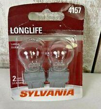 Sylvania 4157 LongLife Automobile Mini Clear Bulb Pack of 2