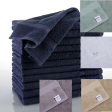 Plush Hand Towel 12 Pack Commercial Grade Looped Terry Cotton Towels 5 Colors