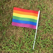 14 x 21cm Rainbow Flag Polyester for Lesbian Gay Bisexual Transgender SG