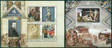 Art Michelangelo Paintings Sculpture Nude Middle Ages Gabon MNH stamp set