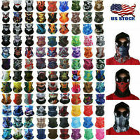 9pcs Set Camouflage Seamless Face Tube Mask Headband Scarf Headwear Bandana US