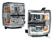 2014-2015 Chevy Silverado 1500 Pickup LED Plank Style Projector Headlights