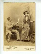 "(B2b) Grande Photo CDV VAN BOSCH ""chanteuse actrice opéra théâtre"" LANTELME"
