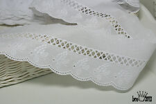 "14Yds Embroidery scalloped cotton eyelet lace trim  2.5"" YH836 laceking2013"