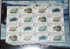 BAT BRITISCH ANTARKTIS 2009 505-08 Klb WWF Krabbenfresser Crabeeater Seals MNH