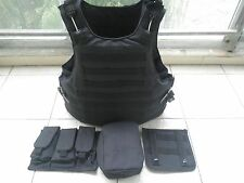 Black Combat Tactical Soft Bullet proof vest IIIA NIJ0101.06 SIZE:M