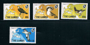 Gambia SC485-488 Birds,Maps of Europe and Africa MNH 1983